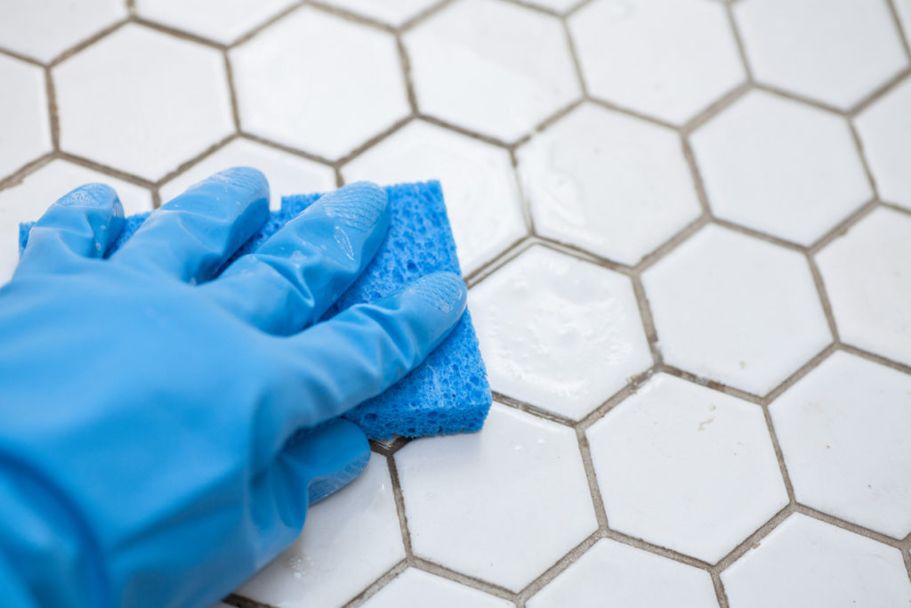 Grout Cleaning, Photo Credit: CameronAynSmith (iStock).